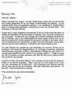 Letter from Donald Spoto