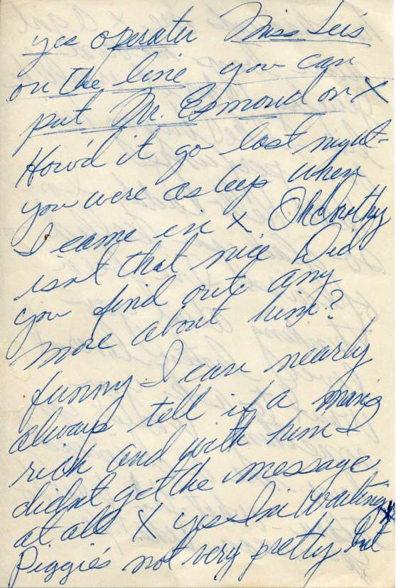 Marilyn Monroe's Notes Page 1