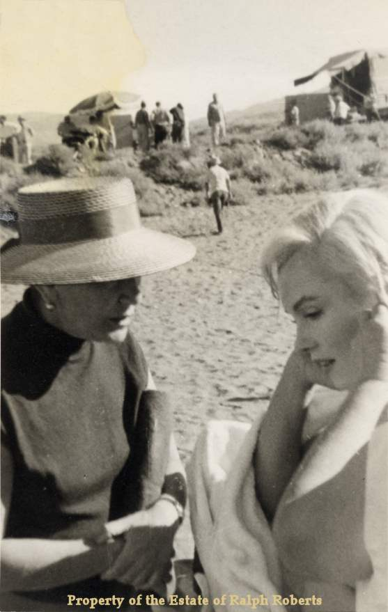 Marilyn Monroe and Another on the Misfits set by Ralph Roberts