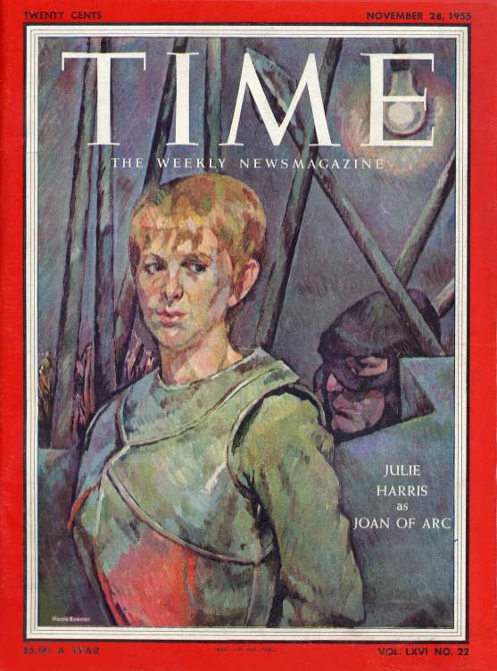 Time Magazine with Julie Harris and Ralph Roberts - November 1955