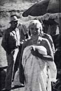 "Marilyn smiling for Ralph on the set of ""The Misfits"""